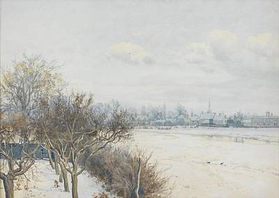 Winter In The Country Painting - Winter In The Ouse Valley by William Fraser Garden