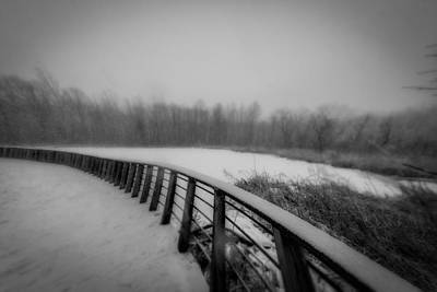 Winter At The Park  Art Print by Michael Demagall
