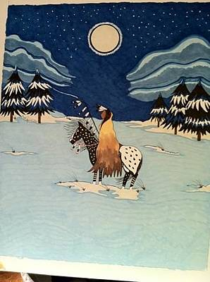 Teton Drawing - Winter In The Tetons by Gayle Canfield
