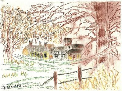 Winter In The Village Art Print by Tracey Williams