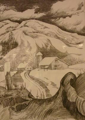 Winter In Truckee Art Print by Georgia Annwell