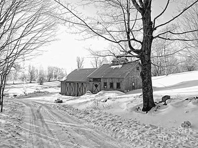Barns In Snow Photograph - Winter In Vermont by Marcia Lee Jones