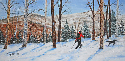 Winter In Vermont Woods Print by Stanton Allaben