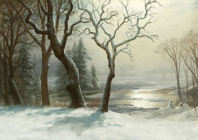 Yosemite Painting - Winter In Yosemite by Albert Bierstadt