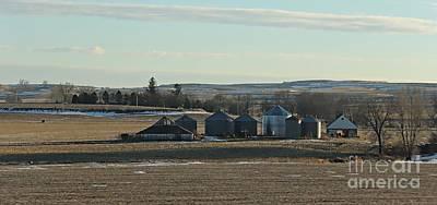 Winter Iowa Farmland Original
