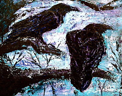 Raven Painting - Winter Is Coming by D Renee Wilson