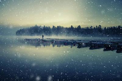 Snowfall Wall Art - Photograph - Winter Is Coming. by Mika Suutari