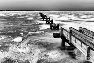 Photograph - Winter Is Coming Mono by John Rizzuto