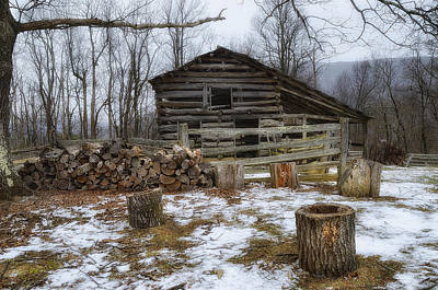 Photograph - Winter Is Coming To The Farm by Steve Hurt