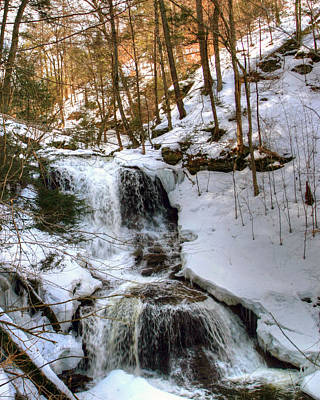 Photograph - Winter Is Loosing Its Grip On Tuscarora Falls by Gene Walls