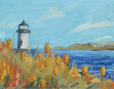 New England Lighthouse Painting - Winter Island 14x11 by Kendra Kurth Clinton