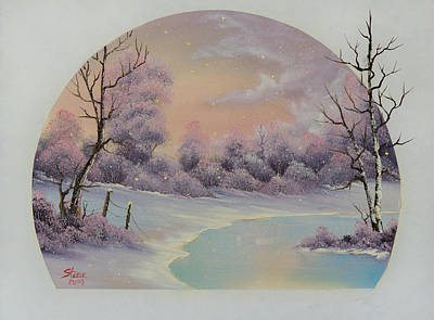 Steele Painting - December Frost by Chris Steele