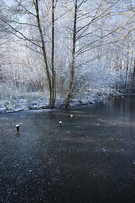 Winter Lake Art Print by Svetlana Sewell