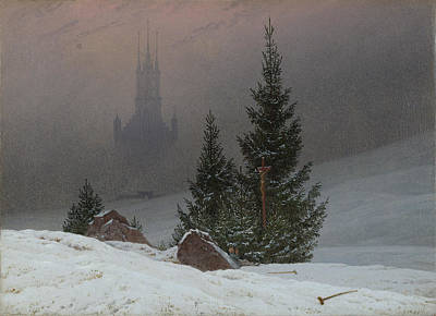 Caspar Painting - Winter Landscape by Caspar David Friedrich