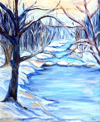 Painting - Winter Landscape by Cristina Stefan