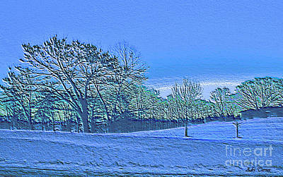 Winter Landscape Etched Art Print