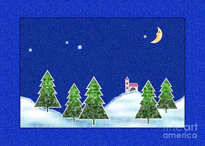 Digital Art - Winter Landscape by Gabriele Pomykaj