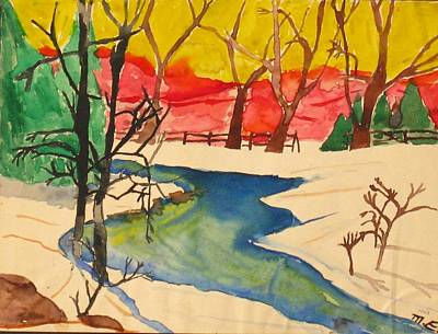 Painting - Winter Landscape In Color by Michael Anthony Edwards