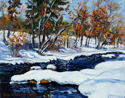 Painting - Winter Landscape by Ingrid Dohm