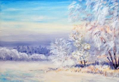 Winterscape Painting - Winter Landscape by Martin Capek