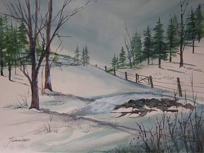 John Smeulders Painting - Winter Landscape by John Smeulders