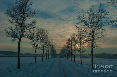 Photograph - Winter Landscape by Jorgen Norgaard