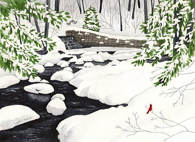 Winter Landscape - Mill Creek Park Art Print