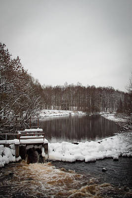 Winter Landscape Print by Robert Hellstrom