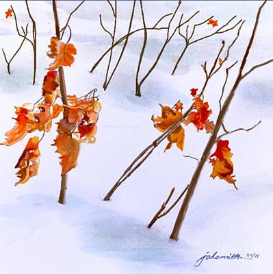 Digital Art - Winter Leaves by Joan A Hamilton