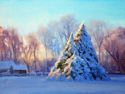Winter Landscape Painting - Winter Light by Armand Cabrera