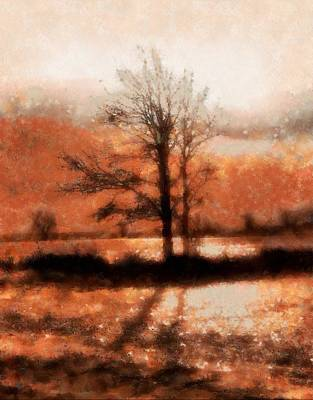 Cycles Painting - Winter Light Autumn Shadows by Dan Sproul