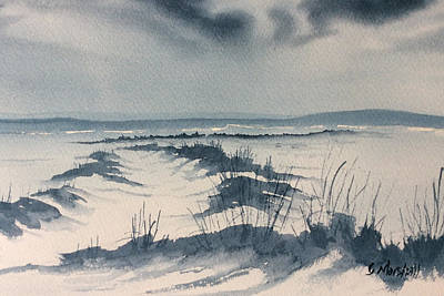 Painting - Winter Light Over Lastingham Rigg by Glenn Marshall