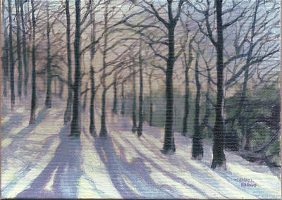 Snow Scape Painting - Winter Lines by Michael Charles Fargo