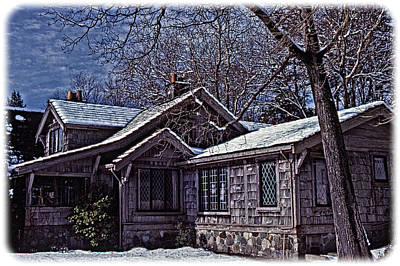 Charming Cottage Digital Art - Winter Lodge by Richard Farrington