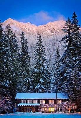 Winter Lodging Art Print by Inge Johnsson