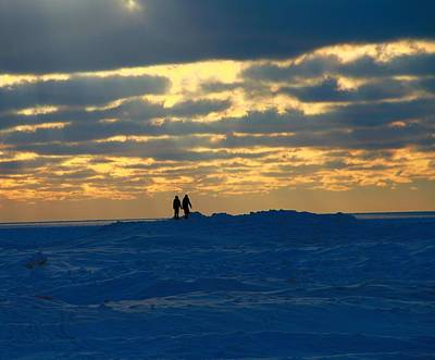 Photograph - Winter Love At Sunset by Dan Sproul