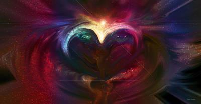 Abstract Hearts Digital Art - Winter Love by Linda Sannuti