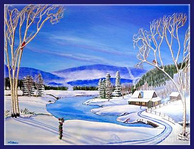 Tree With Eye Painting - Winter Magic At A Mountain Getaway II by Kimberlee Baxter