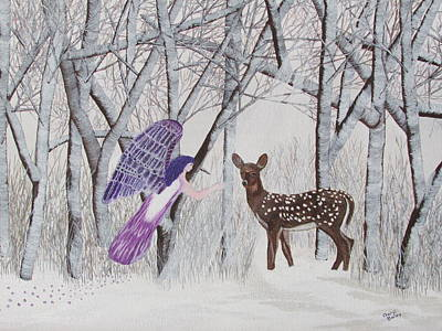 Art Print featuring the painting Winter Magic by Cheryl Bailey