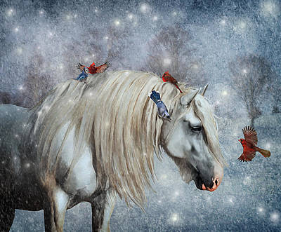 Draft Horse Digital Art - Winter Magic by Lyndsey Warren