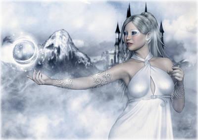 Digital Art - Winter Magic by Rachel Dudley