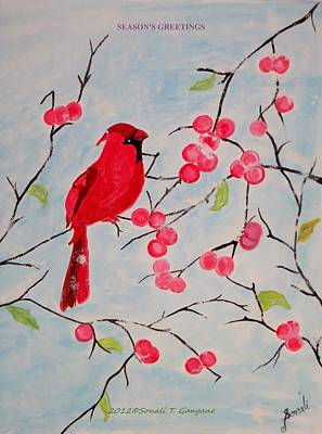 Snowy Day Painting - Winter Magic by Sonali Gangane