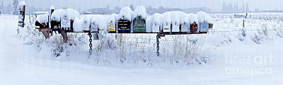 Lightscapes Photograph - Winter Mailbox Panorama by Sean Griffin