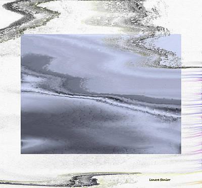 Snow Scene Landscape Mixed Media - Winter Marble by Lenore Senior