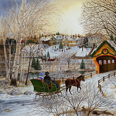 Winter Memories 1 Of 2 Art Print