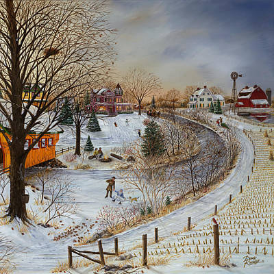 Painting - Winter Memories 2 Of 2 by Doug Kreuger
