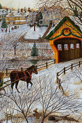 Painting - Winter Memories 2 Of 3 by Doug Kreuger