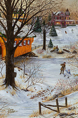 Painting - Winter Memories 3 Of 3 by Doug Kreuger