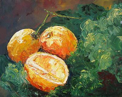 Winter Meyer Lemons And Kale Original by Susan Richardson