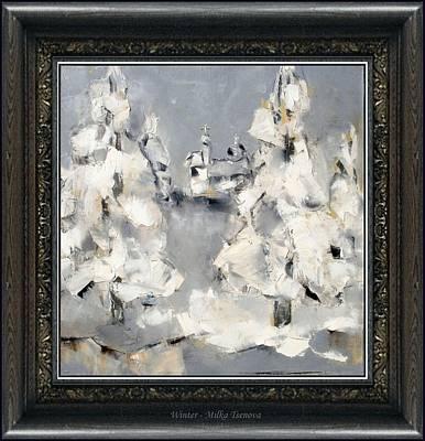 Winter Scene Painting - Winter by Milka Tsenova